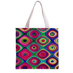 Psychedelic Checker Board Grocery Tote Bag