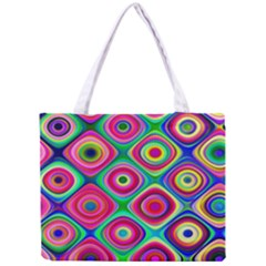 Psychedelic Checker Board Tiny Tote Bag