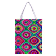 Psychedelic Checker Board Classic Tote Bag