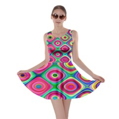 Psychedelic Checker Board Skater Dress