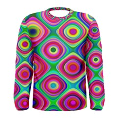 Psychedelic Checker Board Men s Long Sleeve T-shirt