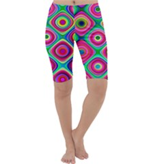 Psychedelic Checker Board Cropped Leggings