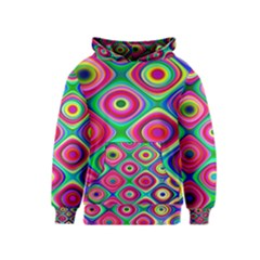 Psychedelic Checker Board Kid s Pullover Hoodie