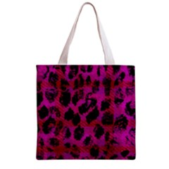 Pink Leopard Grocery Tote Bag