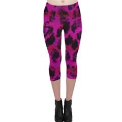 Pink Leopard Capri Leggings