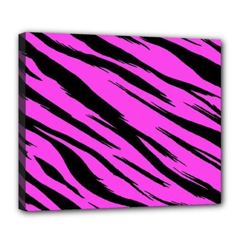Pink Tiger Deluxe Canvas 24  X 20  (framed)