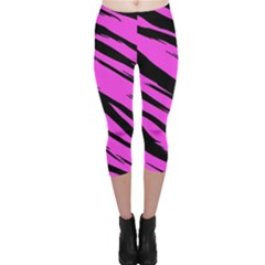 Pink Tiger Capri Leggings