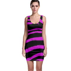 Pink Zebra Bodycon Dress