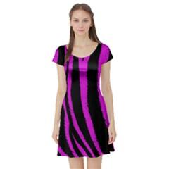 Pink Zebra Short Sleeve Skater Dress