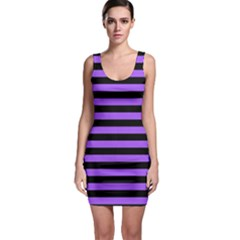 Purple Stripes Bodycon Dress