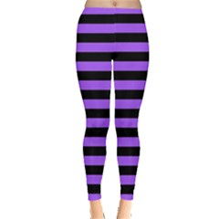 Purple Stripes Leggings
