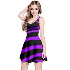 Purple Zebra Reversible Sleeveless Dress