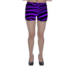 Purple Zebra Skinny Shorts