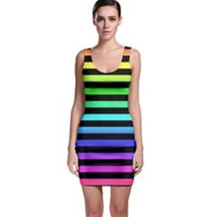 Rainbow Stripes Bodycon Dress