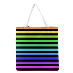 Rainbow Stripes Grocery Tote Bag