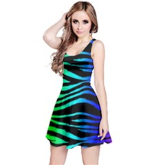Rainbow Zebra Reversible Sleeveless Dress