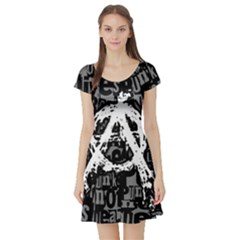 Anarchy Short Sleeve Skater Dress