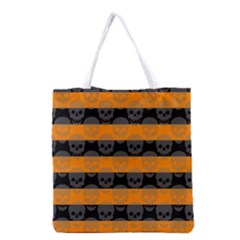 Deathrock Stripes Grocery Tote Bag