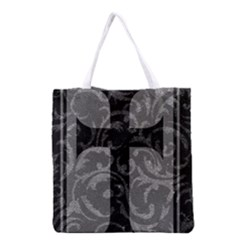 Goth Brocade Cross Grocery Tote Bag