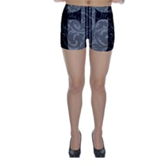 Goth Brocade Cross Skinny Shorts