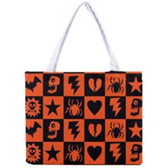 Goth Punk Checkers Tiny Tote Bag