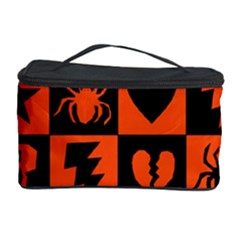 Goth Punk Checkers Cosmetic Storage Case