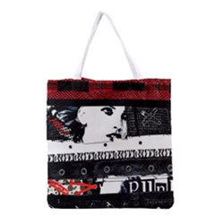 Punk Chick Grocery Tote Bag