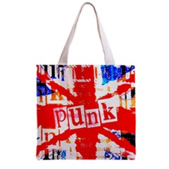 Punk Union Jack Grocery Tote Bag