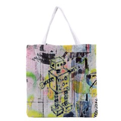 Graffiti Graphic Robot Grocery Tote Bag