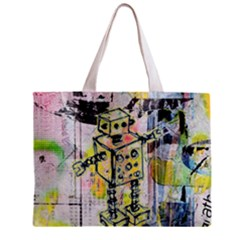 Graffiti Graphic Robot Tiny Tote Bag