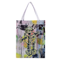 Graffiti Graphic Robot Classic Tote Bag