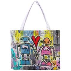 Graffiti Pop Robot Love Tiny Tote Bag