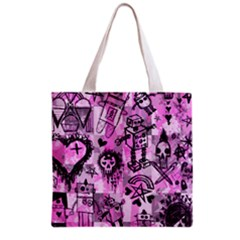 Pink Scene Kid Sketches Grocery Tote Bag