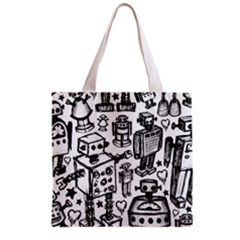Robot Crowd Grocery Tote Bag
