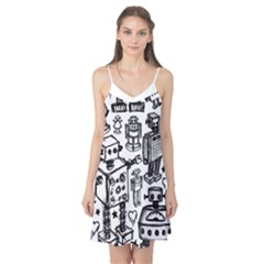 Robot Crowd Camis Nightgown