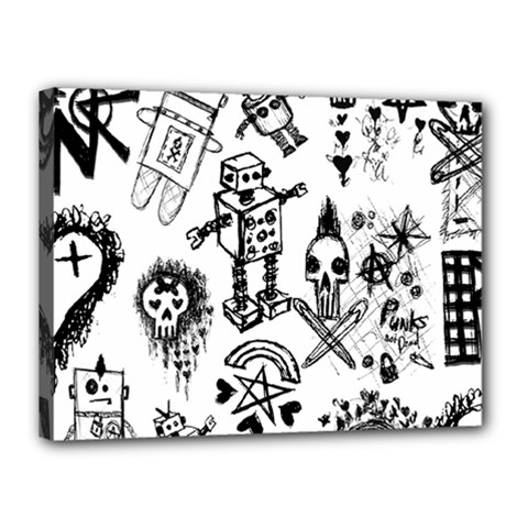 Scene Kid Sketches Canvas 16  X 12  (framed)