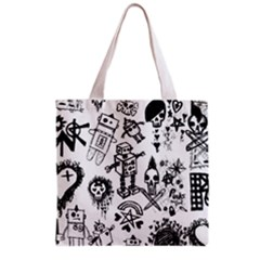 Scene Kid Sketches Grocery Tote Bag