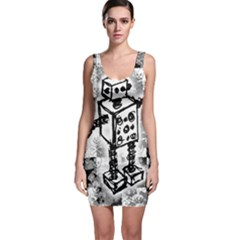 Sketched Robot Bodycon Dress