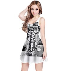 Sketched Robot Reversible Sleeveless Dress