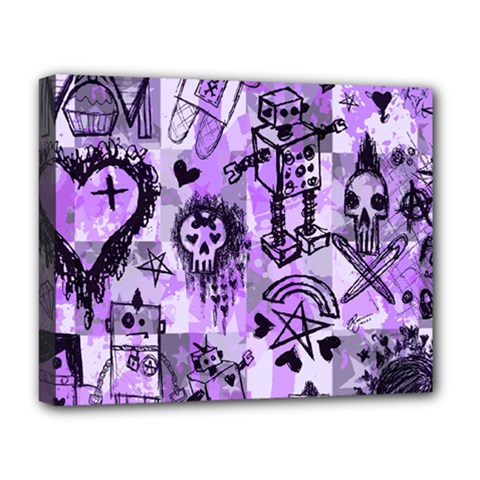 Purple Scene Kid Sketches Deluxe Canvas 20  X 16  (framed)