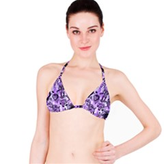 Purple Scene Kid Sketches Bikini Top