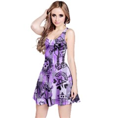 Purple Scene Kid Sketches Reversible Sleeveless Dress