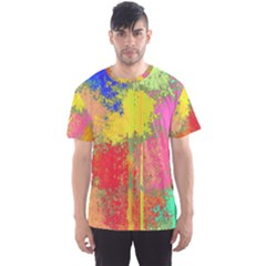Colorful Paint Spots Men s Sport Mesh Tee