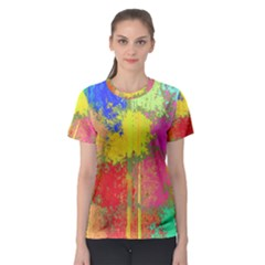 Colorful paint spots Women s Sport Mesh Tee