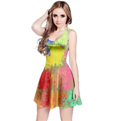 Colorful paint spots Sleeveless Dress