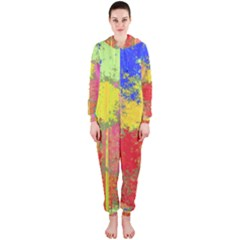 Colorful paint spots Hooded OnePiece Jumpsuit