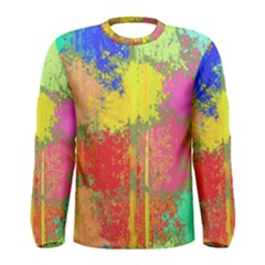 Colorful paint spots Men Long Sleeve T-shirt