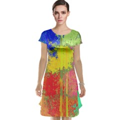 Colorful paint spots Cap Sleeve Nightdress