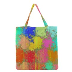 Colorful Paint Spots Grocery Tote Bag