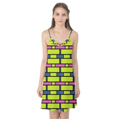Pink green blue rectangles pattern Camis Nightgown